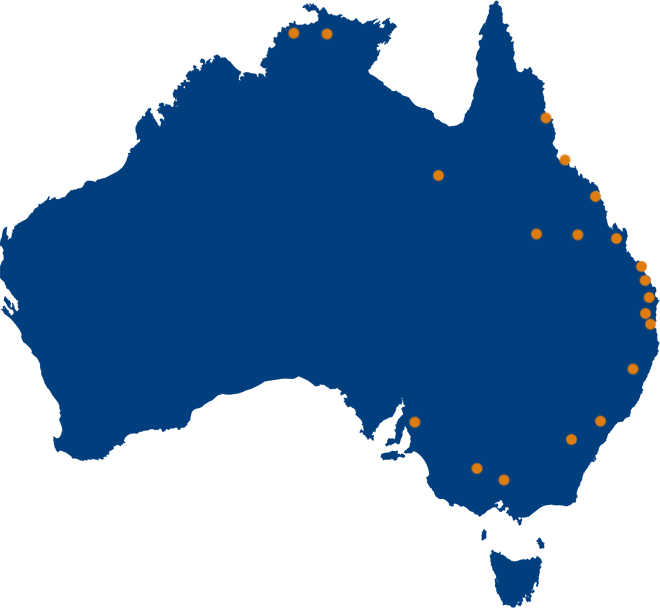 Our locations around Australia